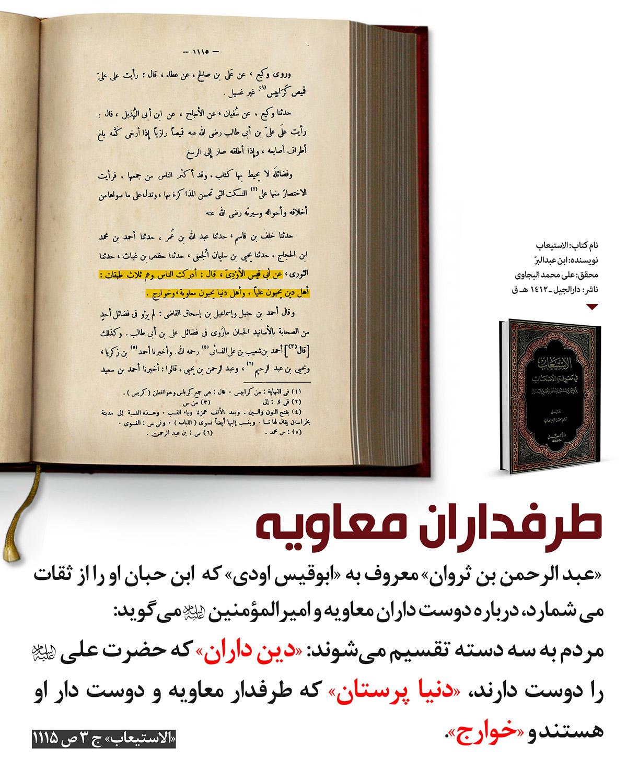 توصیف طرفداران حضرت علی علیه السلام و طرفداران معاویه